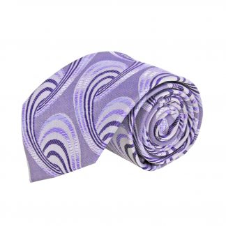 Lavender, Purple Large Swirls Men's Tie 9540-0