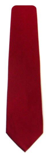 Maroon Solid Silk Men's Tie 9637-0
