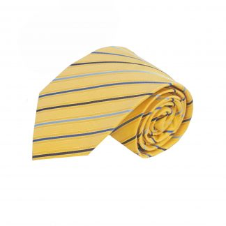 "63"" XL Yellow, Blue Stripe Men's Tie 1520-0"