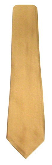 Gold Solid Men's Tie 9711-0