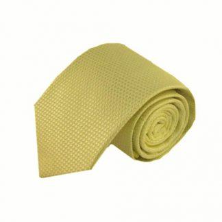 Light Yellow Solid Tone on Tone Men's Tie 9801-0