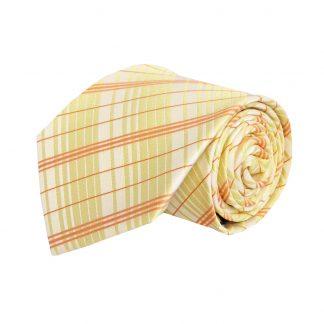 Yellow, Orange Plaid Men's Tie 9916-0