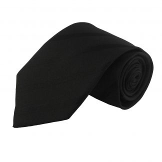 Black Tone on Tone Stripe Men's Tie 6058