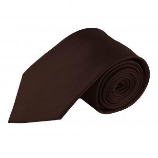 Brown Solid Men's Tie 9714