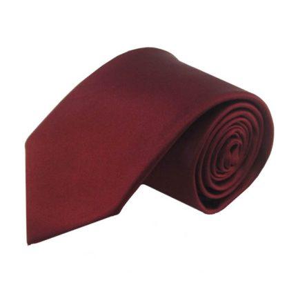 Burgundy Solid Men's Tie 9889