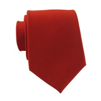Red Skinny Men's Tie 4376