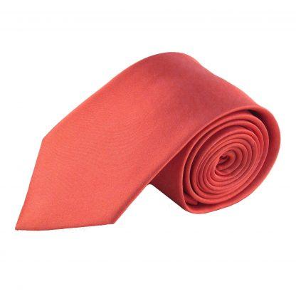 Salmon Solid Silk Woven Men's Tie 10242