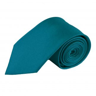 Turquoise Solid Men's Tie w/ Pocket Square 2136