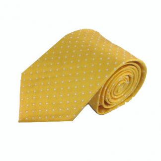 Yellow w/White Dots Men's Tie 10480-0