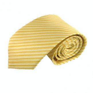 Light Yellow, Gold Yellow Stripe Men's Tie 2175-0