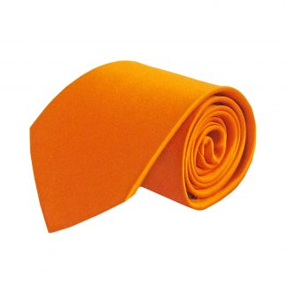 Orange Solid Silk Men's Tie 5218-0