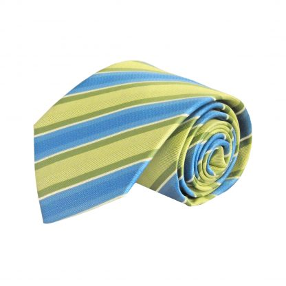 Lime, Blue Stripe Men's Tie 7880-0