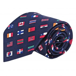 International Flags on Navy Men's Tie 4155-0