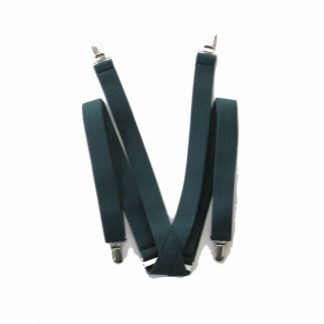 "Hunter Green Solid 1"" Suspenders 4363-0"