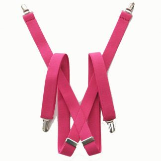 Hot Pink Solid Suspenders 5412-0