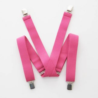 "Dark Pink Solid 1.5"" Suspenders 8434-0"
