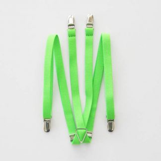"Florescent Lime 1/2"" Suspenders 0899-0"