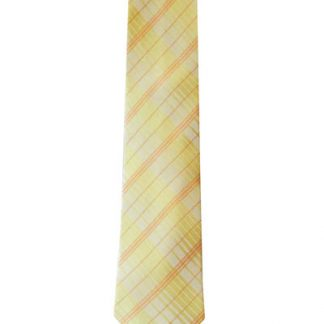 "49"" Boy's Yellow/Orange Plaid Tie 3651-0"