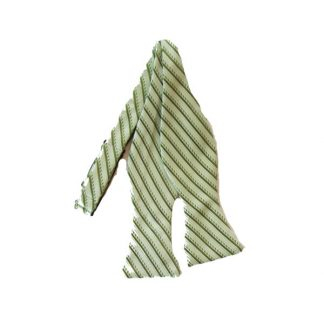Hunter Green/Light Green Stripe Self-Tie Bow Tie 5098-0