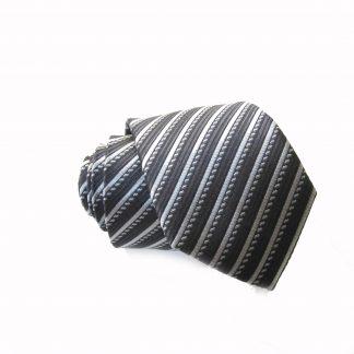 "49"" Boy's Self Tie Charcoal/Gray Stripe Tie 5715-0"