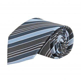 """63"""" XL Blue, Black, Navy Stripe Men's Tie 11212-0"""