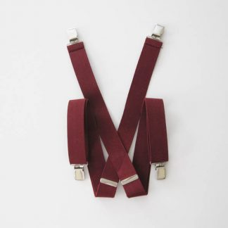"Burgundy Solid 1.5"" Suspenders 2046-0"