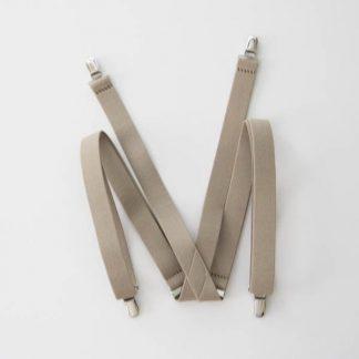 """Khaki 1"""" Solid Suspenders 5346-0"""