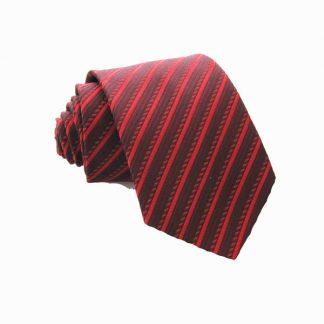 "49"" Boy's Red/Burgundy Stripe Tie 0193-0"