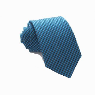 "49"" Boy'sTeal/Black Squares Tie 2270-0"