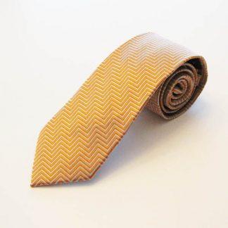 Orange, Gray Chevron Men'sTie 3907-0