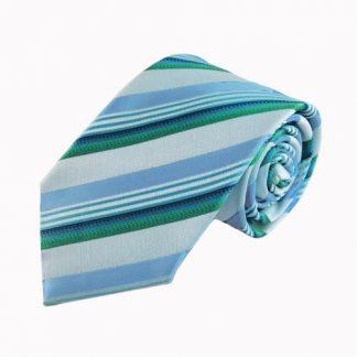 Turquoise, Teal Stripe Men's Tie 7308-0