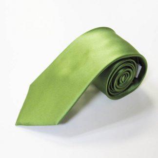 Stem Green Solid Silk Men's Tie 9337-0