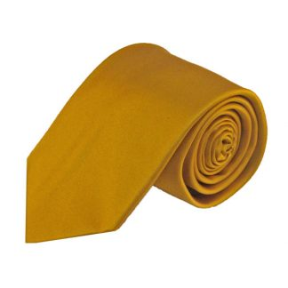 Gold Solid Silk Men's Tie 9810