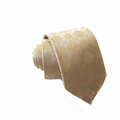 Taupe Argyle Tone on Tone Skinny Tie w/Pocket Square 1648-0