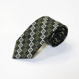 Olive, Black Square Men's Tie 2146-0