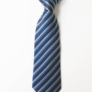 "8"" Boy's Clip-On Navy Blue Stripe Tie 2759-0"