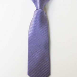 "8"" Boy's Clip-On Lavender Solid Tone on Tone Rectangles Tie 4627-0"