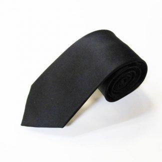 """63"""" XL Black Solid Silk Men's Tie 5281-0"""