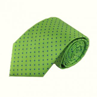 Bright Green, Blue Dots Men's Tie 5959-0