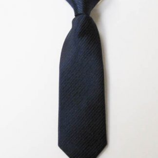 "8"" Boy's Clip-On Navy Solid Tone on Tone Rectangles Tie 7476-0"