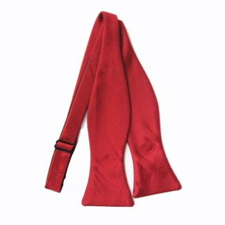 Red Solid Tone on Tone Rectangles Self Tie Bow Tie 8519-0