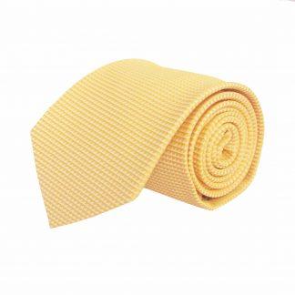 Bright Yellow Solid Tone on Tone Men's Tie 9212-0
