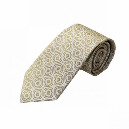 Tan, Cream Medallion Men's Tie 5338-0