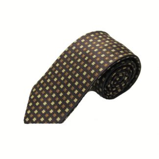 Taupe, Brown Small Square Men's Tie 11070-0