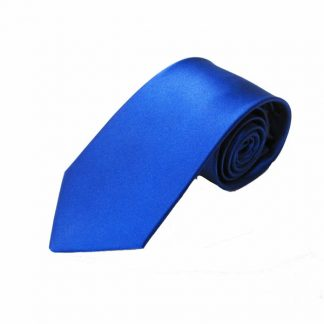 Royal Blue Solid Silk Men's Tie 7866-0