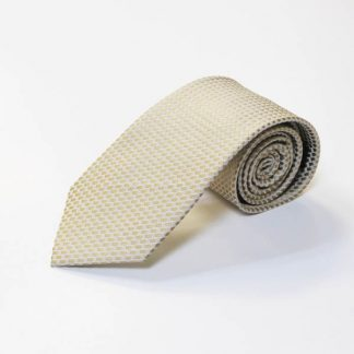 Taupe, Cream Small Square Men's Tie 4057-0