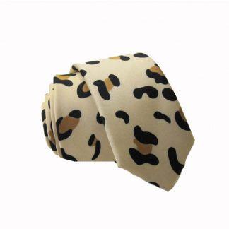 Cheetah Leopard Print Skinny Men's Tie 1536-0