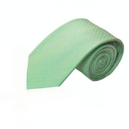 Mint Tone on Tone Basket Weave Men's Tie 3003-0