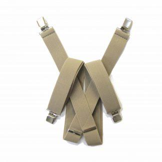 """Khaki Solid 1.5"""" Suspenders 2041-0"""