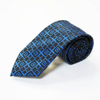 "63"" XL Royal Blue, Black Squares Men's Tie 4078-0"